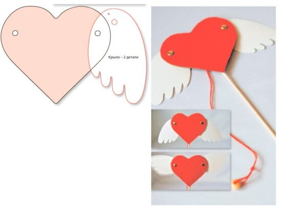 сердце открытка пошагово выгодно отличается оригинальным