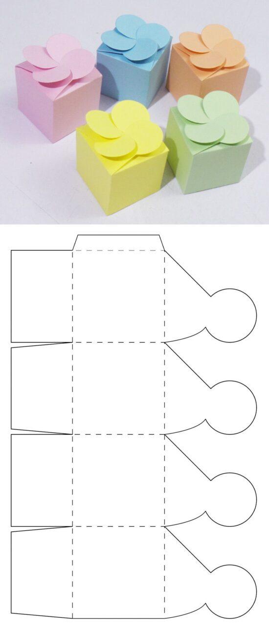 Бумажные коробочки своими руками